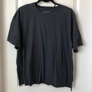 American Eagle Oversized Tee - Steel Gray - sz S